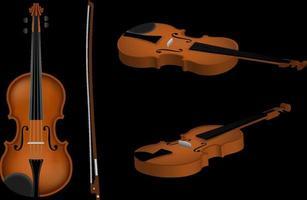 ilustração de violino isolado vetor
