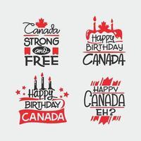 citação de letras desenhadas à mão para design de vetor do dia do Canadá