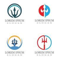 modelo de logotipo trident ícone ilustração vetorial design vetor