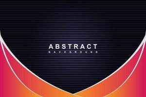abstrato moderno preto e fundo gradiente com linhas diagonais de ondas vetor