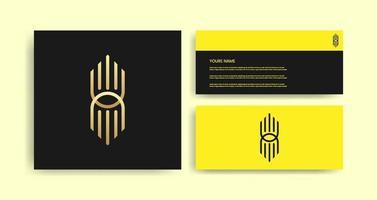modelo de logotipo criativo com cartão de visita vetor