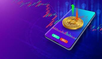 mercado de negociação de bitcoins para criptomoedas vetor