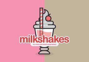 Milkshake café ou restaurante logotipo ou ilustração vetor