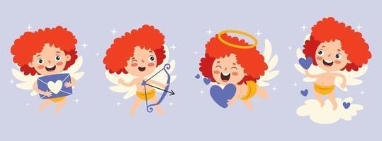 conceito de amor com personagem de desenho animado vetor