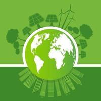 ecologia e conceito de terra ambiental vetor