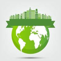ecologia eco conceito global vetor