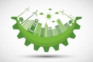 ecologia e conceito de cidade ambiental vetor
