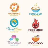 conjunto de design de logotipo de alimentos vetor