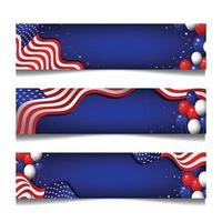 modelos de banner festivo americano vetor