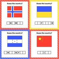 planilha de geografia para crianças em idade pré-escolar e escolar vetor