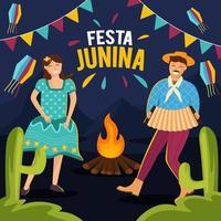 conceito de festa festa junina vetor