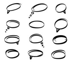definir balão de fala desenhado à mão vetor