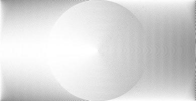 círculo concêntrico de onda sonora padrão de linha abstrata vetor