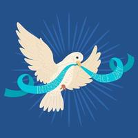 pôster do dia internacional da paz vetor