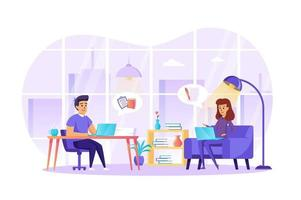 ilustração em vetor conceito de profissão de jornalista e jornalista de personagens de pessoas em design plano