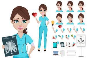 médico mulher medicina conceito de saúde vetor