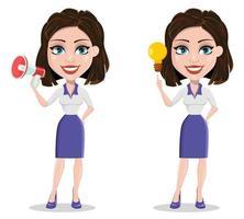 bela personagem de desenho animado de mulher de negócios vetor