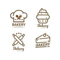 etiqueta de alimentos padaria doce padaria sobremesa modelo de design de loja de doces vetor