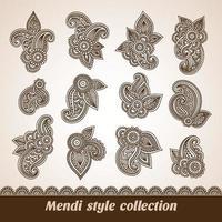 coleção de estilo e ornamentos vetor