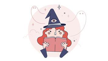 Vetor de outros mundos de bruxa
