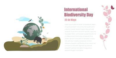 conceito de biodiversidade de proteção de espécies naturais ou fauna vetor