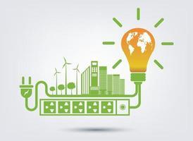 conceito de energia ecológica verde vetor