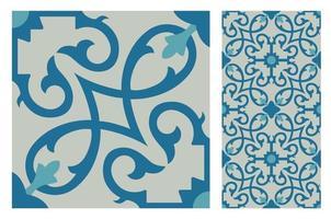padrões de azulejos antigos design sem costura antigo vetor