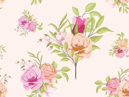 modelo de conceito floral de design de padrão sem emenda vetor
