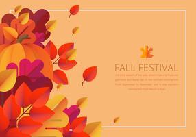 Modelo de borda colorida Festival de outono vetor