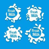 vetor de respingo de leite