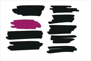 nove pincel de pintura grunge vetor