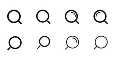 arquivos de vetor de conjunto de estilo de ícones de pesquisa