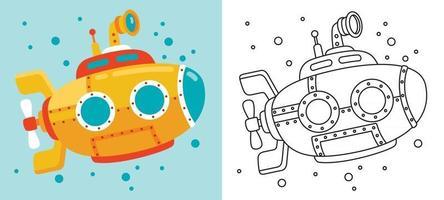 desenho de linha de arte para crianças colorir página vetor