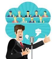 vetor de discurso de empresário