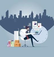 empresário trabalho duro, ilustração vetorial vetor
