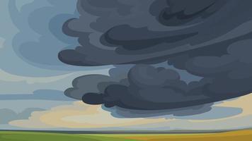 céu antes da tempestade vetor