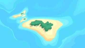 vista superior das ilhas desabitadas vetor