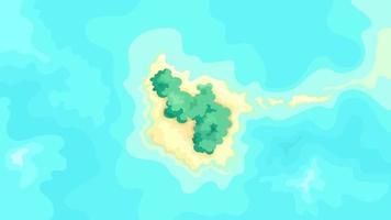 vista superior da ilha tropical vetor