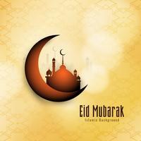 Abstrato Eid Mubarak fundo festival islâmico vetor