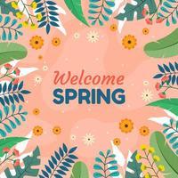 bem vindo fundo de primavera vetor