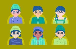 conjunto de avatares de pessoas em geral vetor