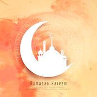 Fundo elegante de Ramadan Kareem abstrata vetor