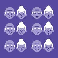 Pacote de vetores de expressões de avós