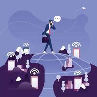 conceito de comunicação mundial global vetor