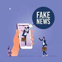 notícias falsas ou conceito de informação enganosa vetor