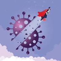 empresário voar descoberta coronavírus vetor