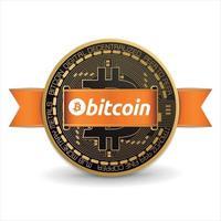 moeda digital bitcoin vetor