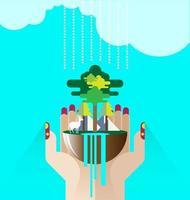 vetor de conceito ecológico