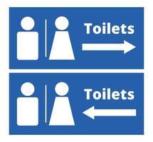sinais de banheiro masculino e feminino vetor