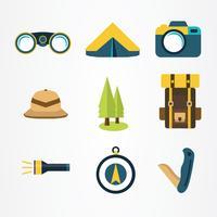 pacote de vetores de elementos de explorador de selva